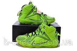 Мужские баскетбольные кроссовки Nike Lebron 12 (Green)
