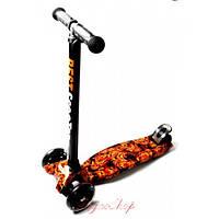 Детский самокат Maxi Best Scooter с принтом