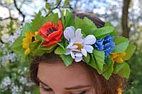"""Венок """"луговые цветы"""" (средний простой) (85/70), фото 1"""