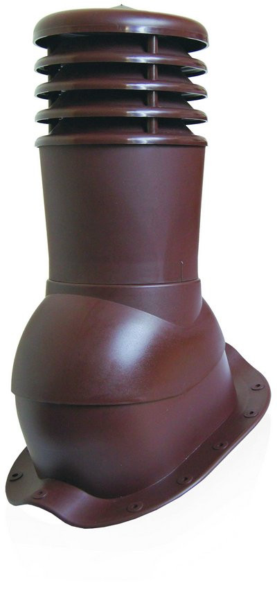 Вентвыход Kronoplast KBN 150мм для металлочерепицы низкий профиль волна до 24 мм с колпаком, фото 1