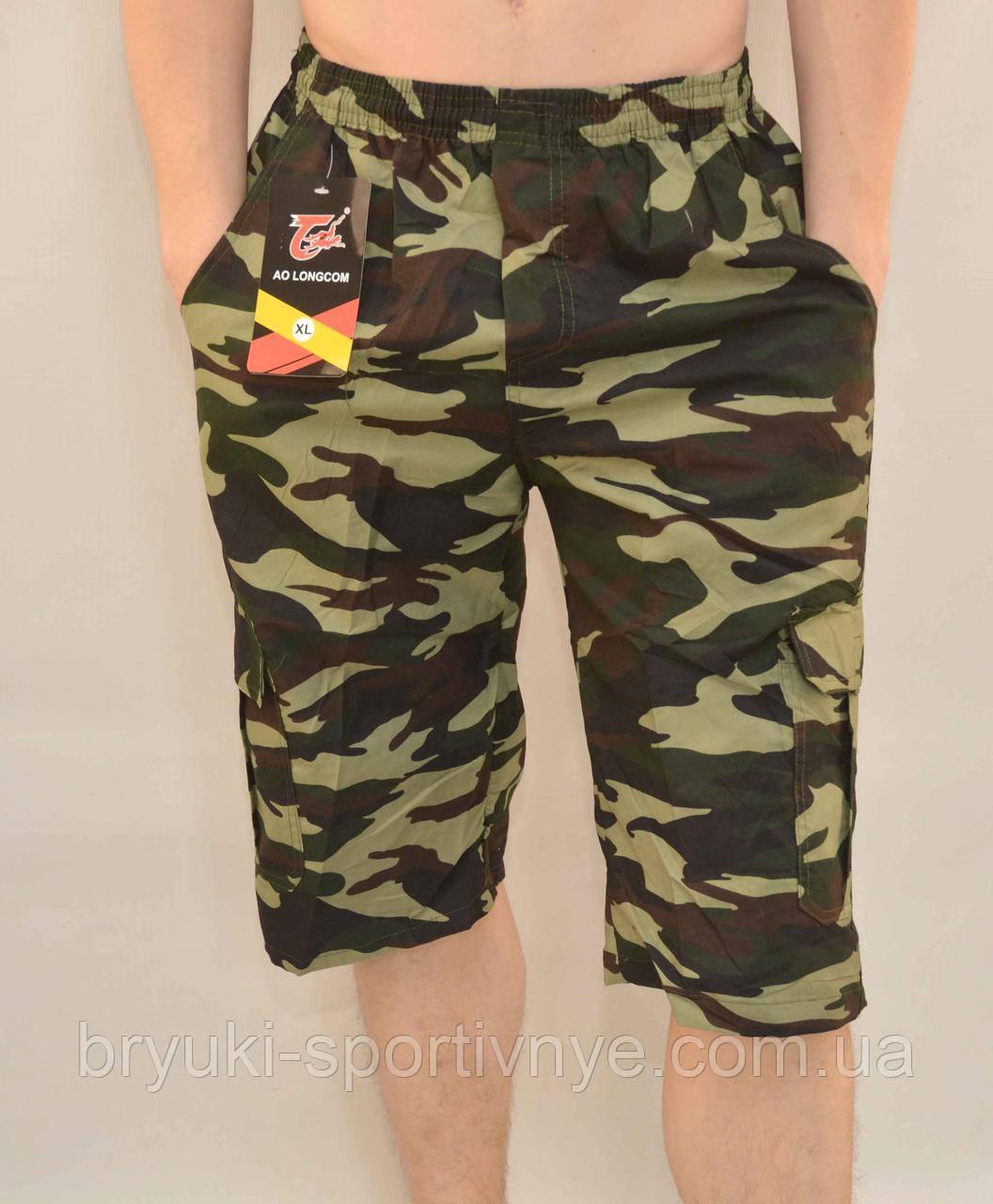 Бриджи мужские камуфляжные с накладными карманами XL - 5XL