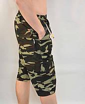 Бриджи мужские камуфляжные с накладными карманами XL - 5XL, фото 2