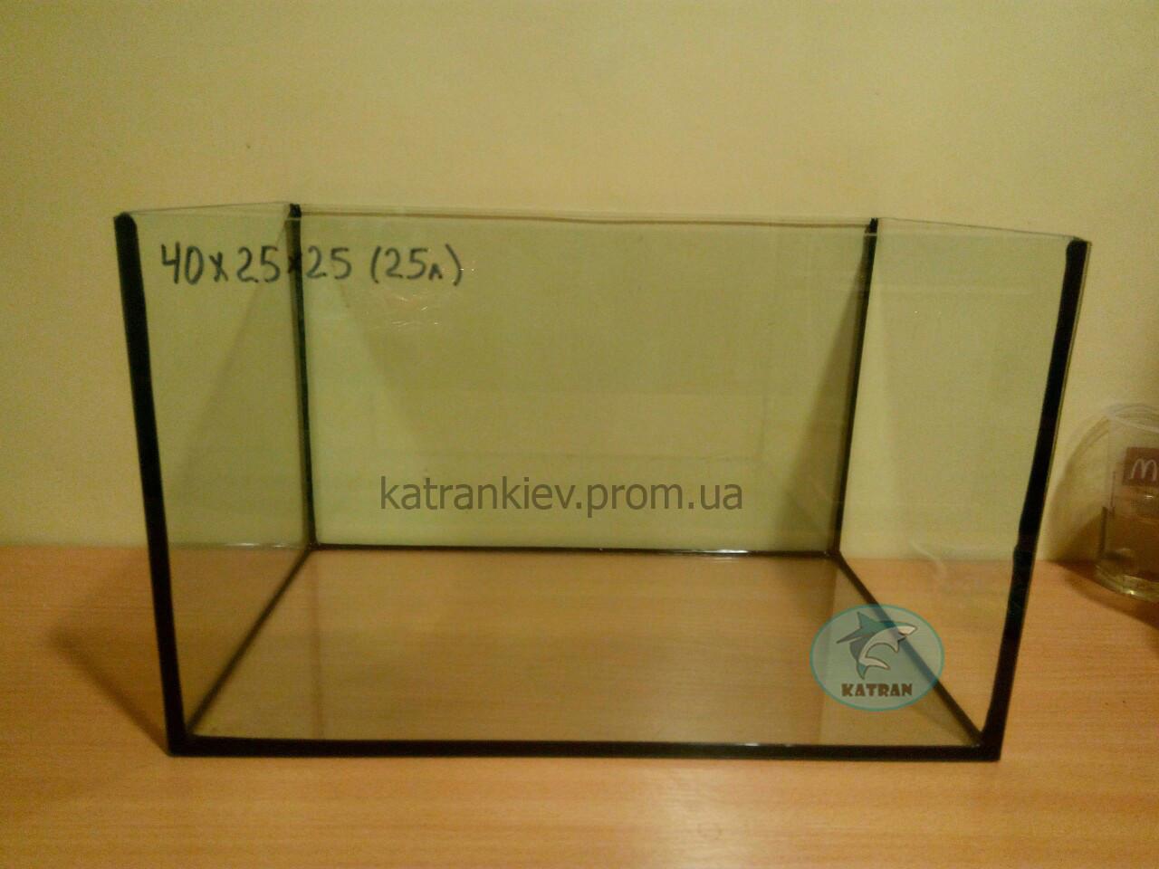 Аквариум 40*25*25 прямой (25 л) 4мм