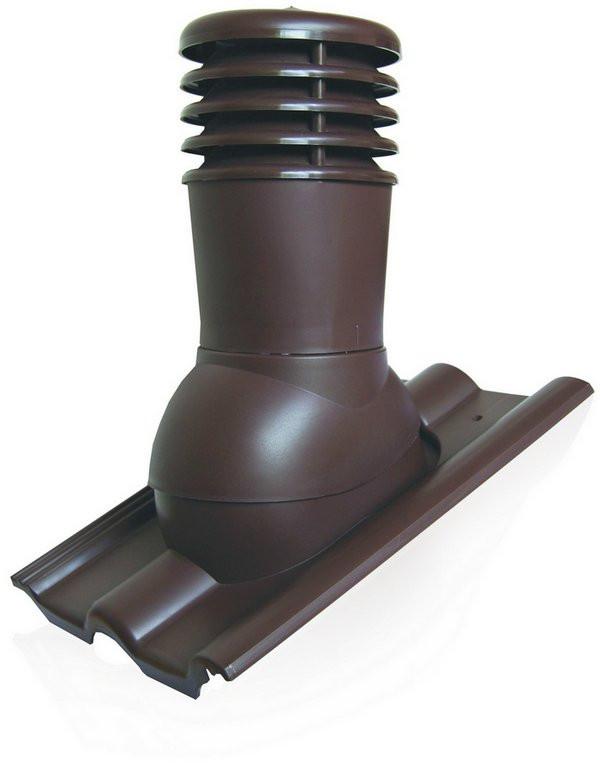 Вентиляционный выход Kronoplast KDB 150 мм для бетонной BRAAS, Аляска, и полимерпесчанной черепицы с колпаком