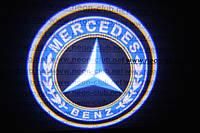 Подсветка дверей авто / лазерная проeкция логотипа Mercedes-Benz | Мерседес-Бенц