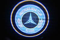 Подсветка дверей авто / лазерная проeкция логотипа Mercedes Benz Club | Мерседес Бенц Клуб