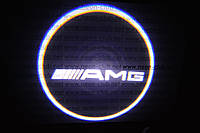 Подсветка дверей авто / лазерная проeкция логотипа Mercedes AMG | Мерседес-Бенц AMG