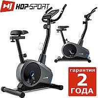 Тренажер велосипед Hop-Sport HS-2080 Spark grey/blue 2018,120,10,Назначение Домашнее , 27, 24, BA100, Новое, Вертикальный, 1 - 10