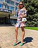 Платье с открытыми плечиками, ткань:софт.  Размер: 42-44.Разные цвета (6482), фото 3