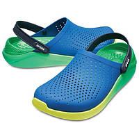 Мужские кроксы сине-зеленые, сабо Crocs LiteRide оригинал