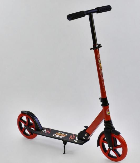 Самокат детский Best Scooter, трехколесный, складной руль, бирюзовый
