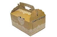Картонная свадебная коробок для торта