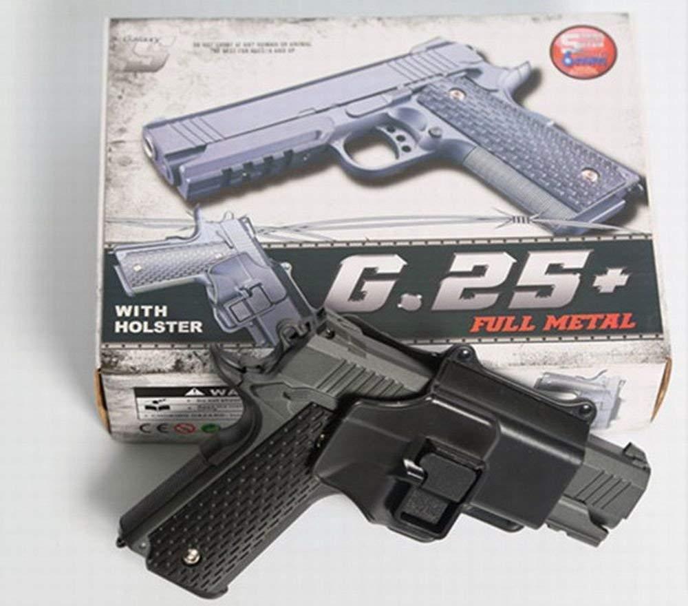 Страйкбольный пистолет Galaxy G25+ (Colt 1911 Rail) с кобурой