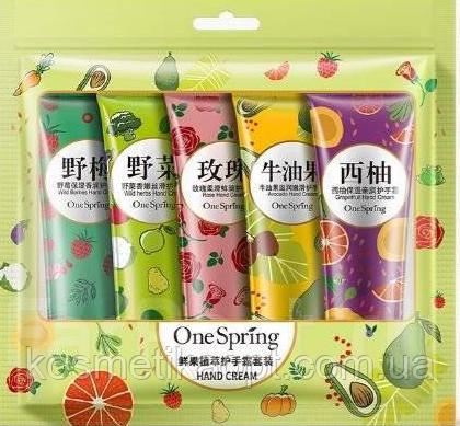 Набор кремов для рук, 5шт*30г One Spring