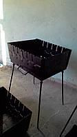 Стальной мангал  470*340 мм с ножками на 8 шампуров