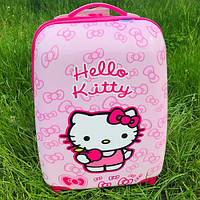 Детский чемодан для девочек на колесах хелло китти (hello kitty)