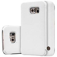 Кожаный чехол Nillkin Qin для Samsung Galaxy S6 Edge белый, фото 1