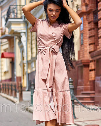 Женское хлопковое платье в горох (Люси jd), фото 2
