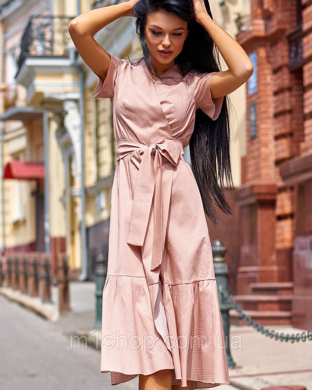 Женское хлопковое платье в горох (Люси jd)