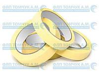 Скотч бумажный малярный 25мм*25м (желтый)