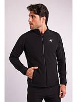 Ветровка толстовка куртка мужская черная Softshell Avecs AV-70271 Black Размеры M/48