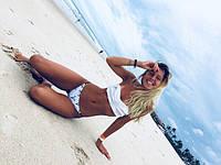 Женский купальник бандо с оборками M, фото 1