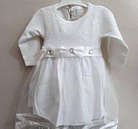 """Платье нарядное """"Снежинка"""" размер 74."""