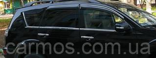 Хром молдинг стекла Mitsubishi Outlander XL (аутлендер), нерж