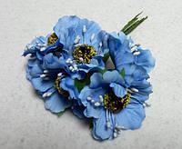 Цветы искусственные. Маки голубые