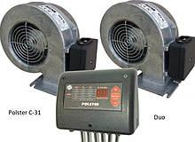 Блок управління Polster C-31 DUO c двома вентиляторами для твердопаливного котла
