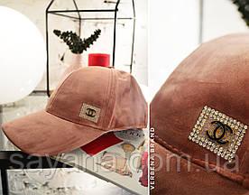 Женская кепка бренд с декором в расцветках. ВЕ-5-0519