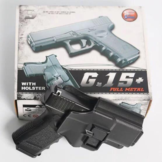 Страйкбольный пистолет G15+ с кобурой Glock 17 Galaxy