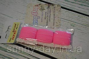 Акрил для вишивки, колір - насичений рожевий