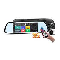 Автомобільне дзеркало-реєстратор на Android + камера заднього виду V300, фото 1