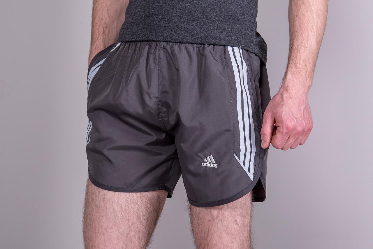Чоловічі шорти Adidas (плащівка), сірого кольору
