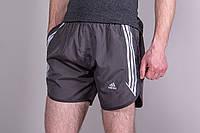 Чоловічі спортивні шорти. Ткань плащівка. Колір сірий