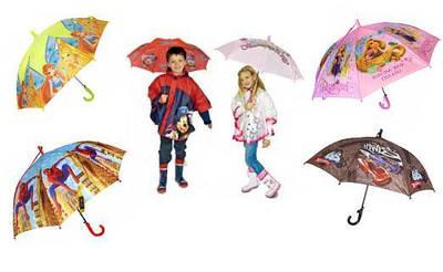 Детские зонтики и дождевики