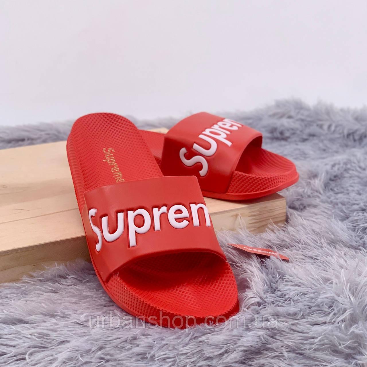 Взуття Supreme Шльопки Supreme Red 40