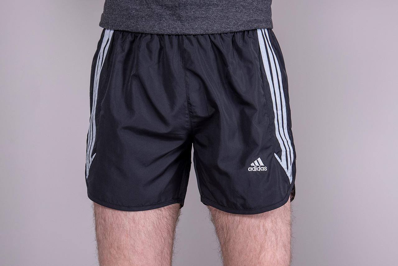Чоловічі шорти Adidas (плащівка), темно-сірого кольору