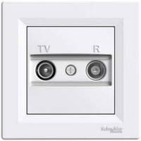 TV/R розетка крайова (1dB) Schneider Electric Asfora Біла