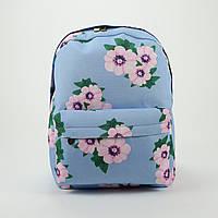 Рюкзак Рюкзак Синій Розові Квіточки, фото 1