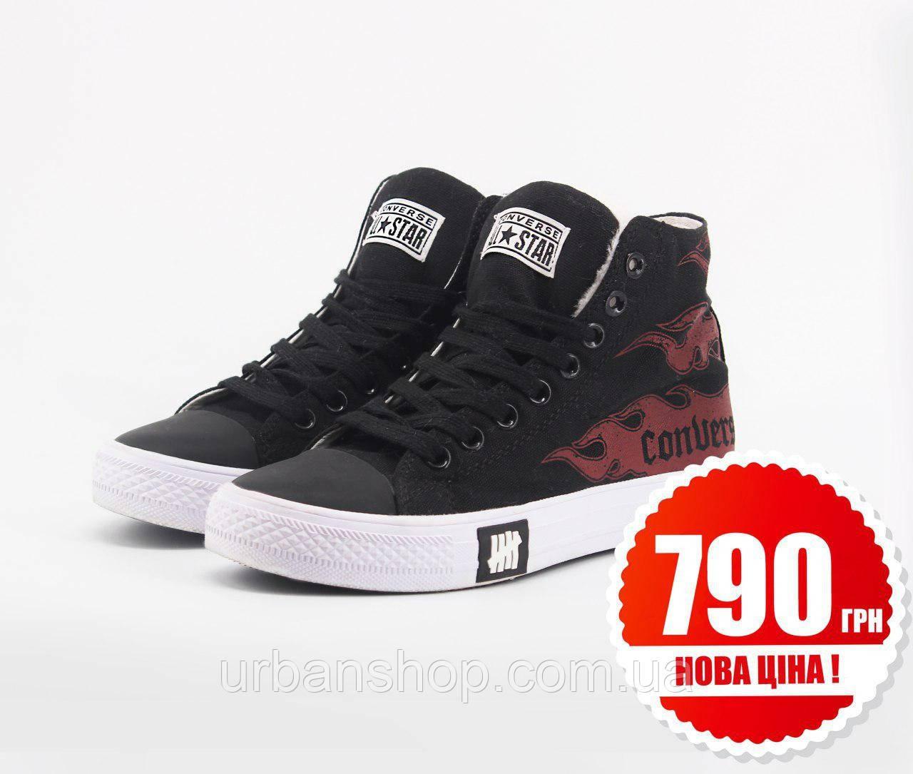 Взуття Converse x Undefeated High Black Red