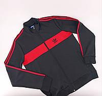 Спортивний костюм Adidas black / red (олімпійка) M, фото 1