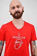 Футболка Moncler червона L