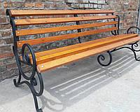 Скамья кованая садовая Ольга 2м с укрепляющей подвеской, фото 1