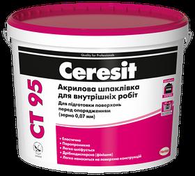 Акриловая шпаклевка для внутренних работ зерно 0,07 мм Ceresit 5 л СТ 95