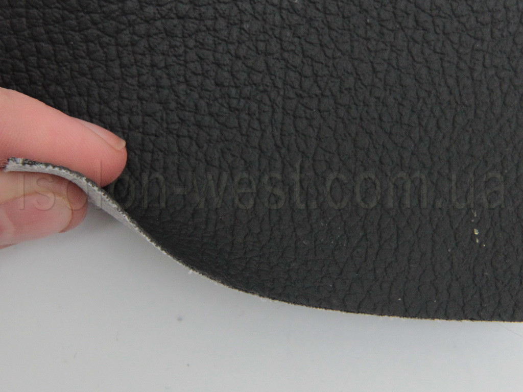 Авто кожзам черный, на тканевой основе