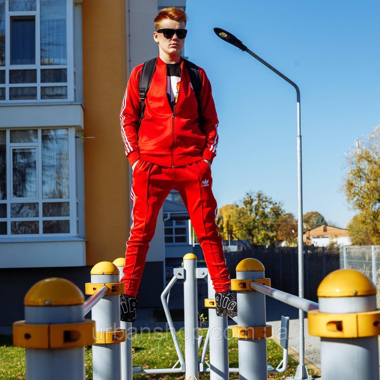 Спортивний костюм Adidas The jacket is red (олімпійка) M