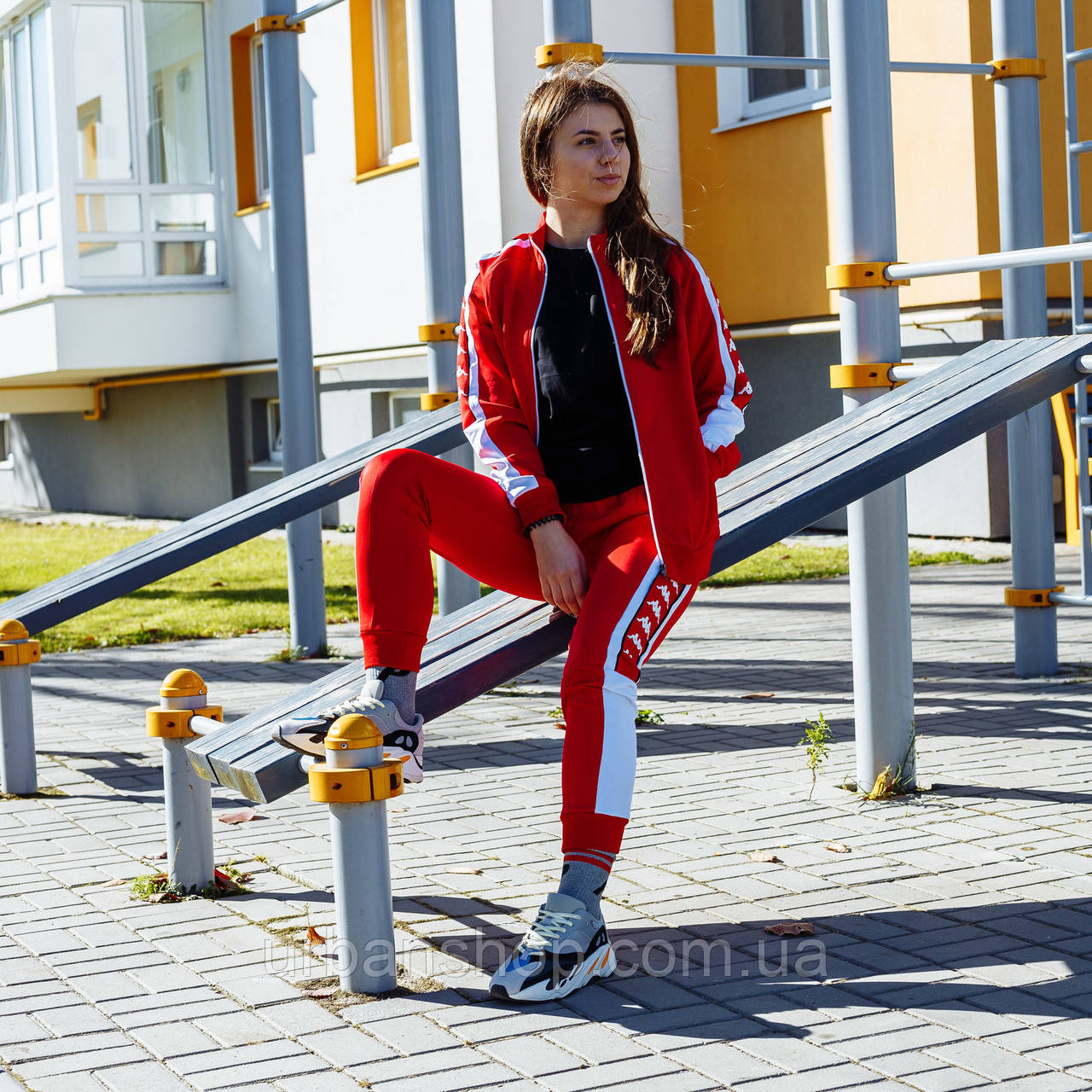 Спортивний костюм Kappa The jacket is red (олімпійка) M