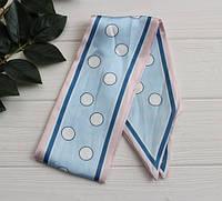 Платок Твилли ,   голубой + бледно-розовый      1 шт